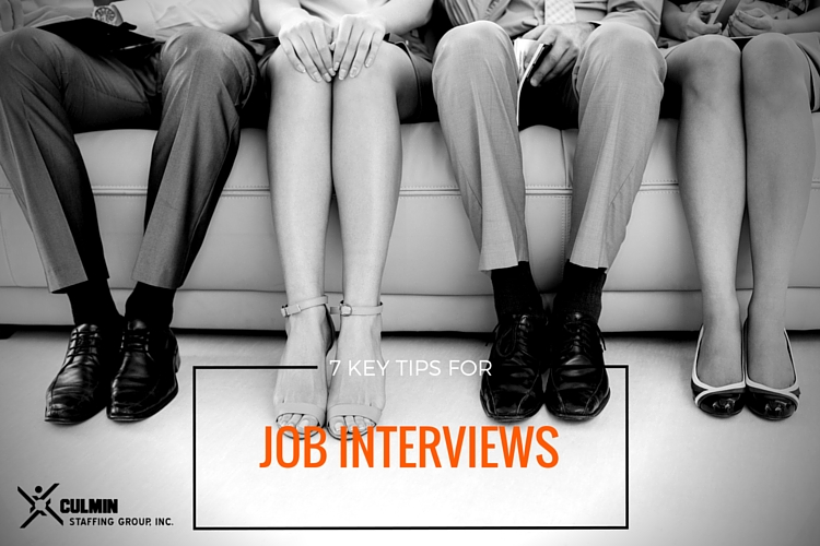 7 Key Tips for Job Interviews | Culmin Staffing Group | The #1 Staffing Agency in South Florida.